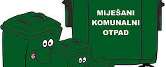Obavijest mještanima naselja Divoševci i Mala Kopanica o promjeni vremena odvoza komunalnog otpada